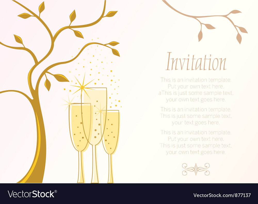 Elegant invitation template Royalty Free Vector Image