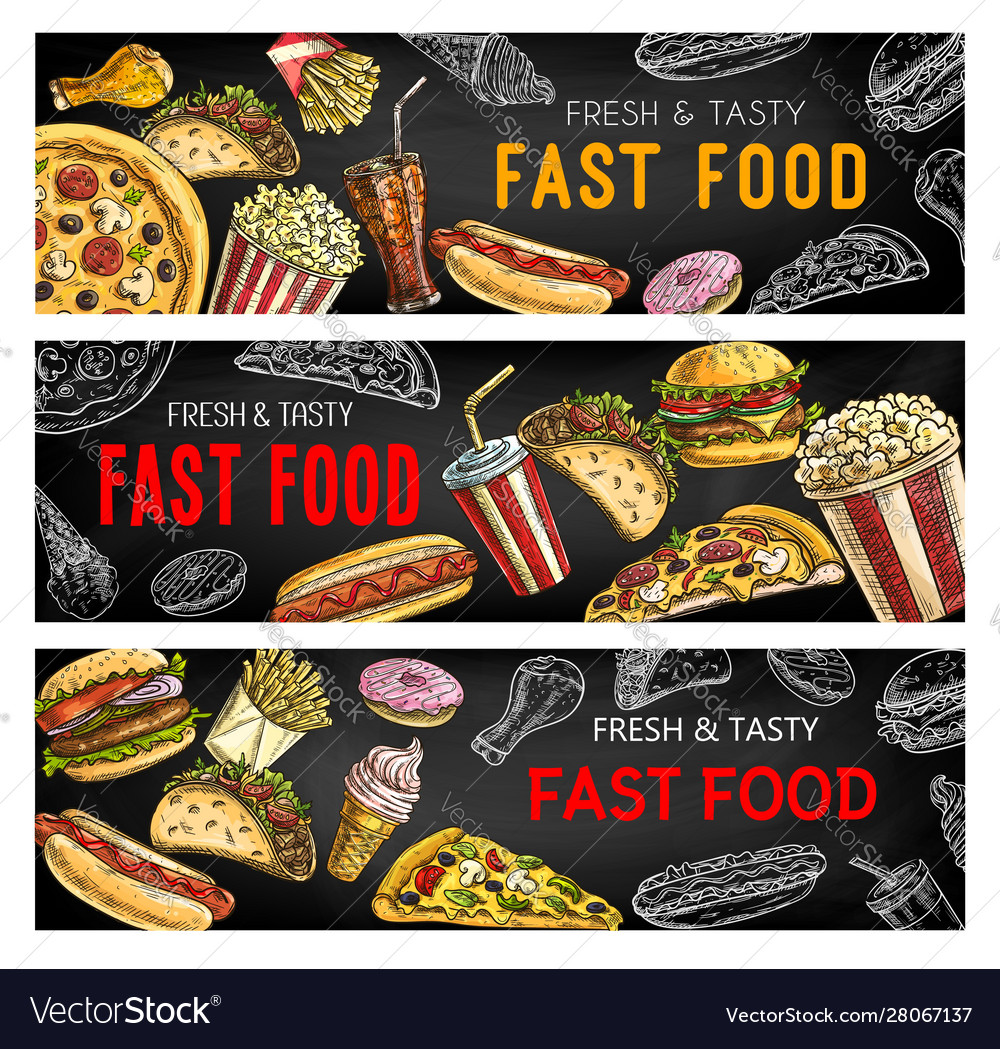 Fastfood menu fast food burgers and sandwiches