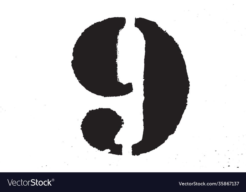 Grunge digit texture