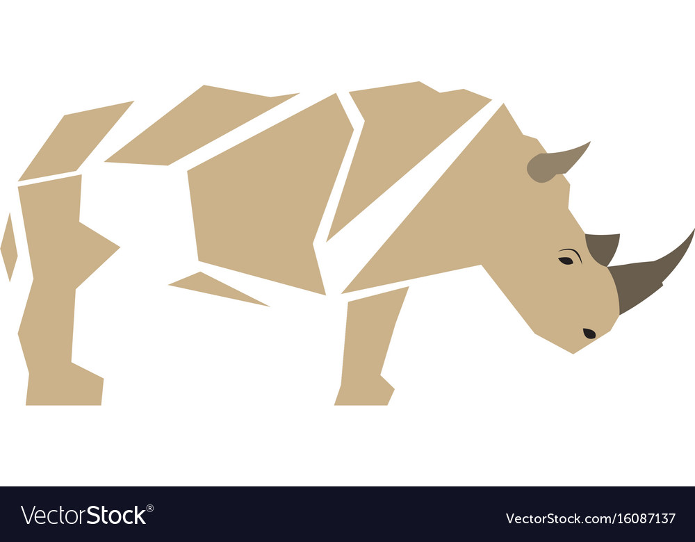 Isolated abstract rhino vector image
