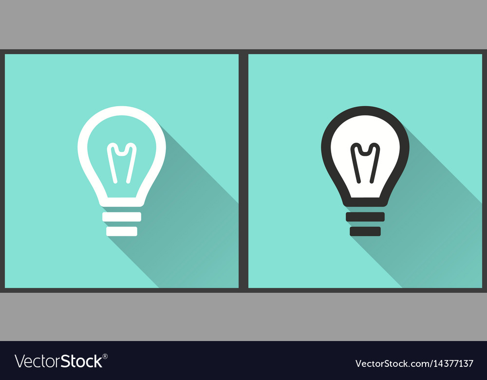 Lamp - icon vector image