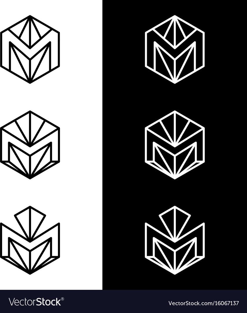 M letter logo design business logo