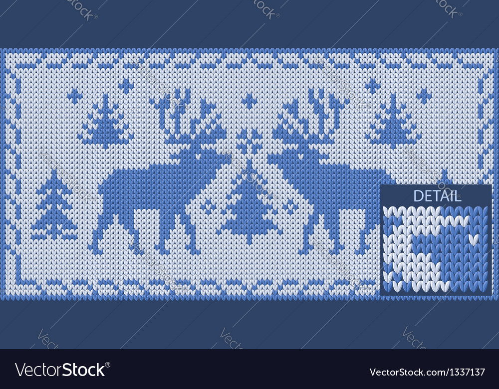 North khitted pattern with deers