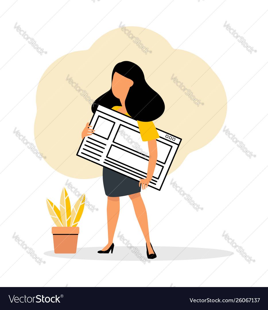 Woman holding sign template banner