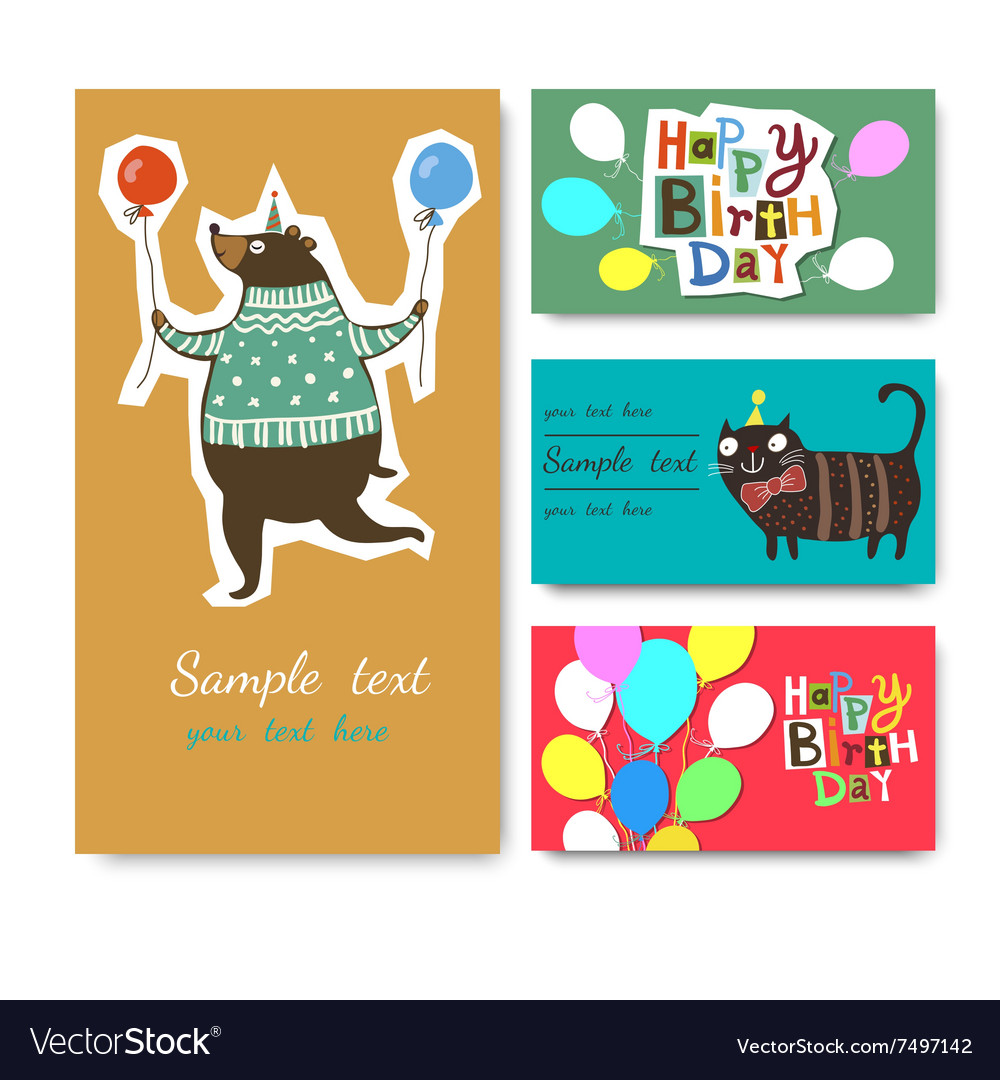 A Happy Birthday Greeting Royalty Free Vector Image