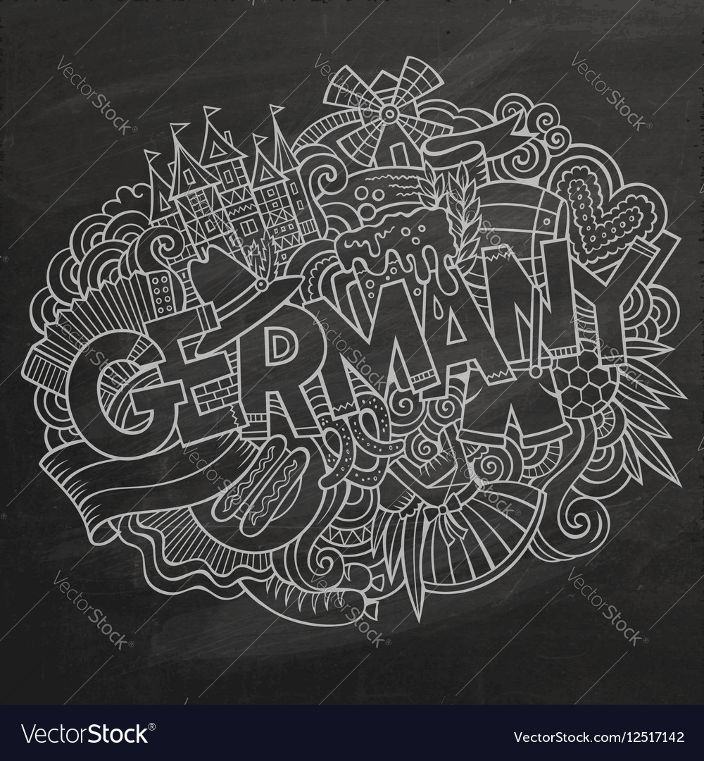 Cartoon cute doodles Germany