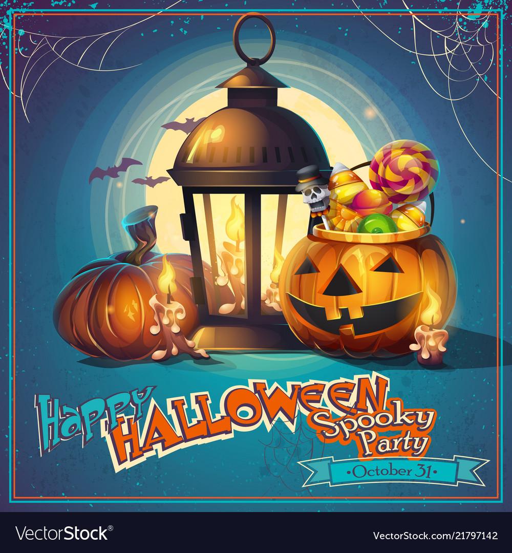 Halloween cartoon stylized