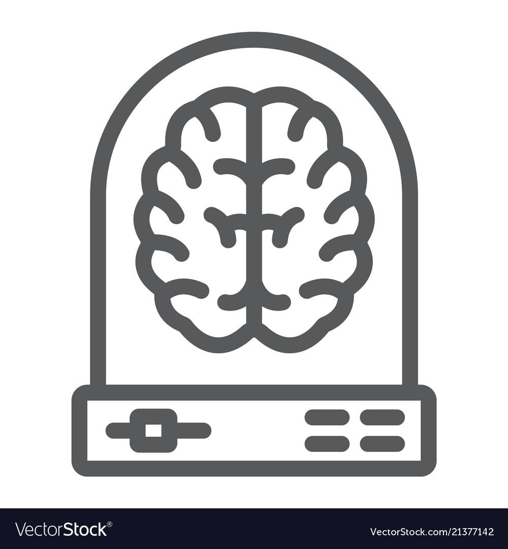 Machine Learning Line Icon Data And Analytics