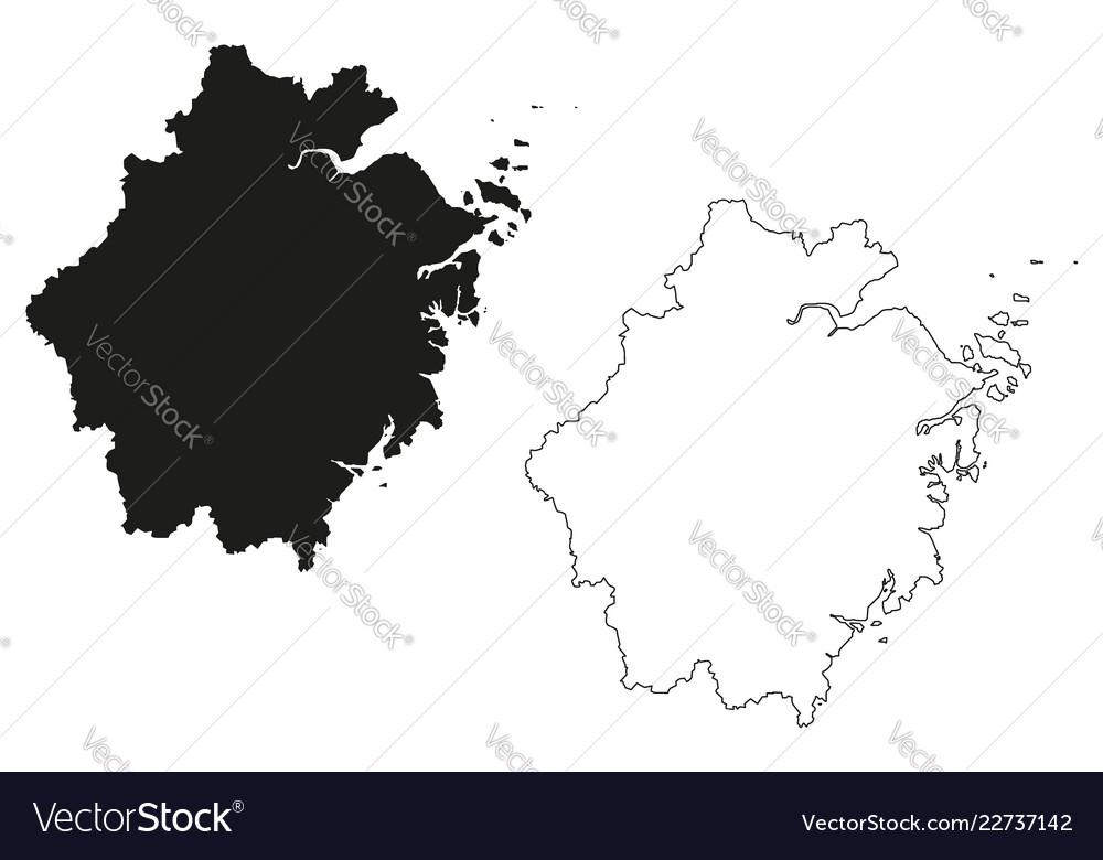 Zhejiang Province Map Royalty Free Vector Image
