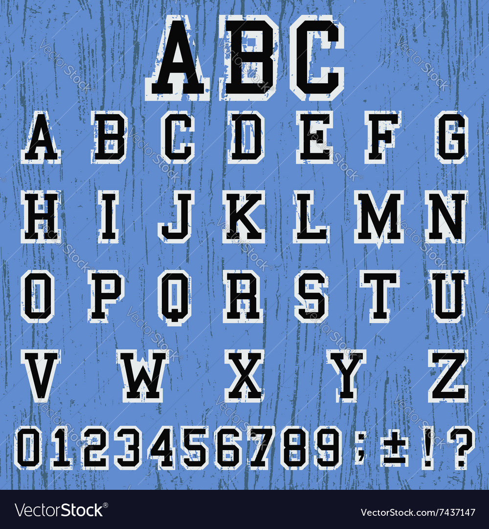 Alphabet vintage template
