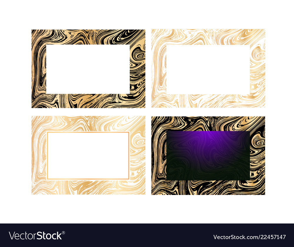 Business card with golden marble texture