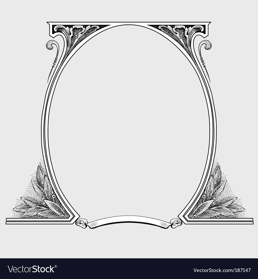 ornate floral frame royalty free vector image vectorstock
