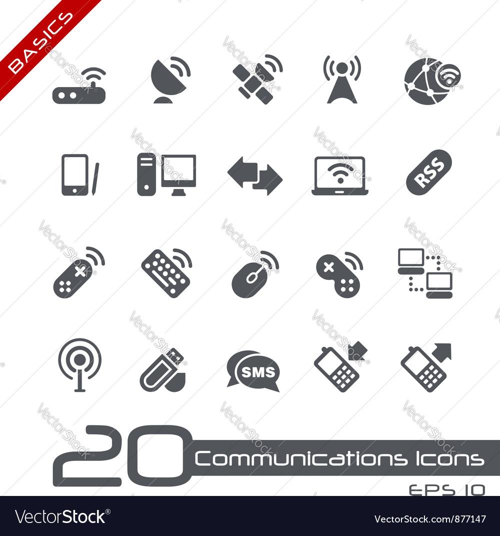 Wireless Communications Basics Series vector image