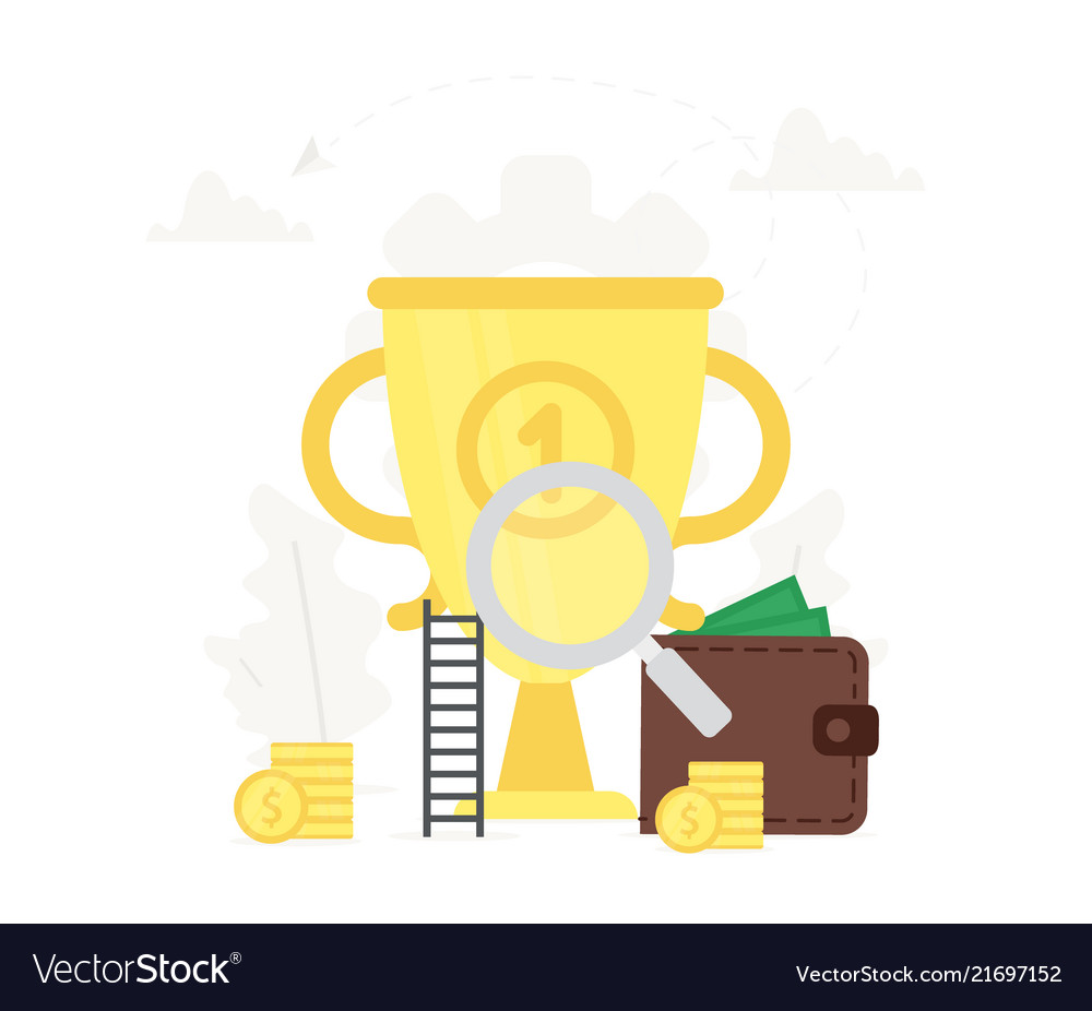 Business big gold trophy business