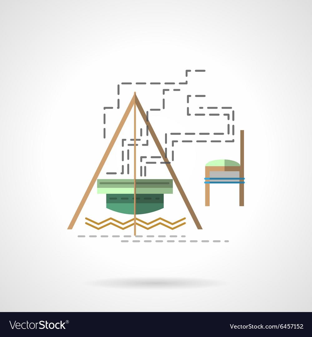Campfire flat color icon