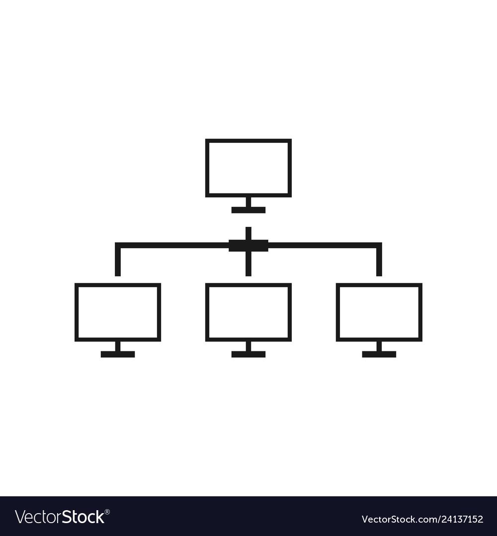 Computer network icon design template