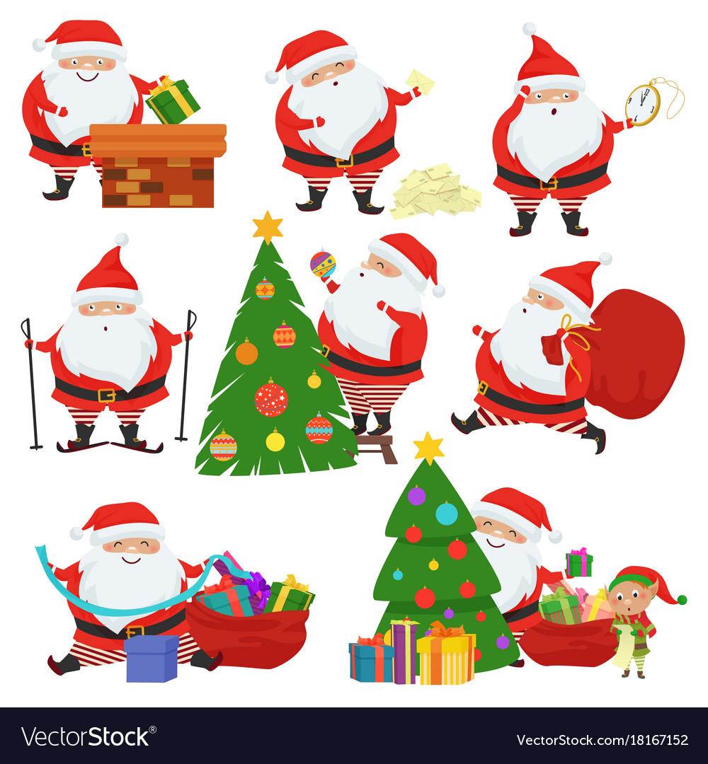 Cute santa claus set