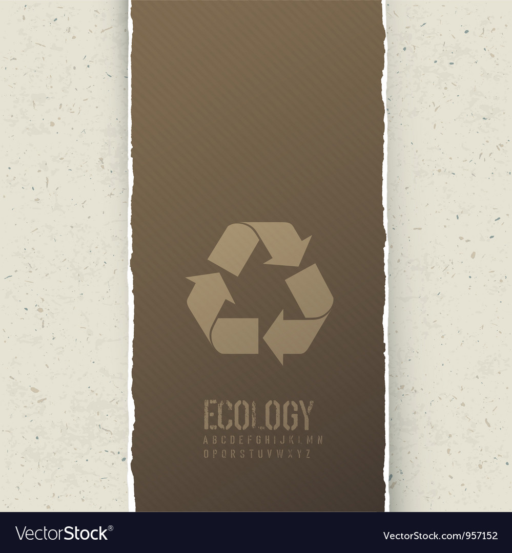 Ecology themed abstract background vector image