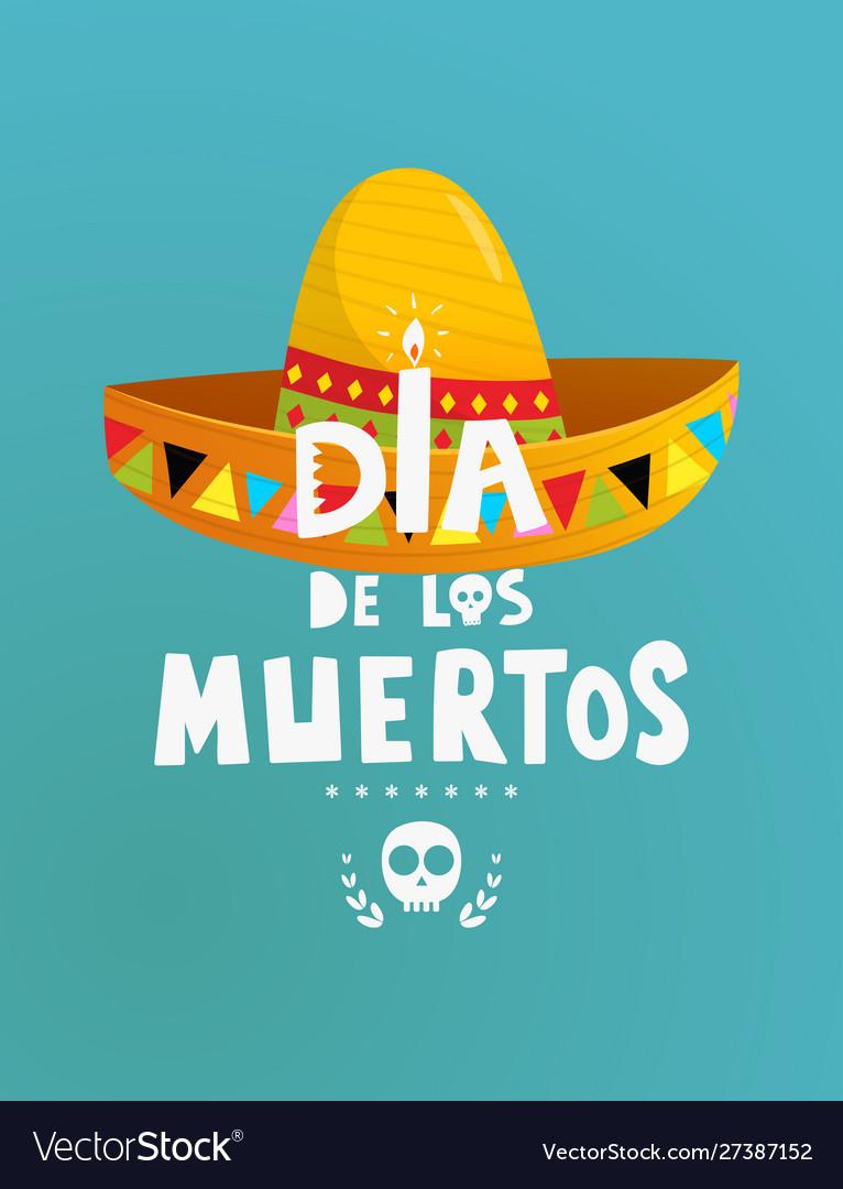 Mexican holiday dia de los muertos symbols poster