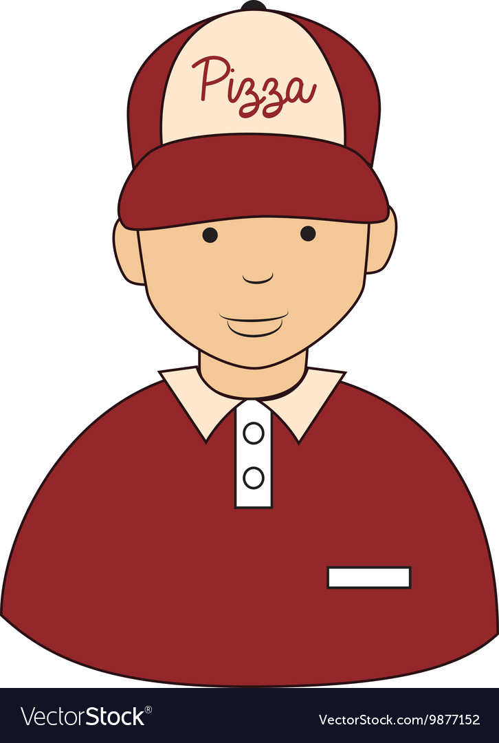 Pizza guy hat icon