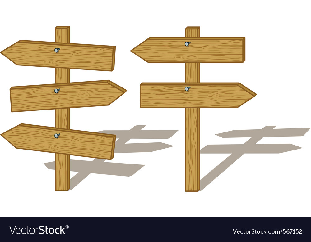 Wooden signs vector image