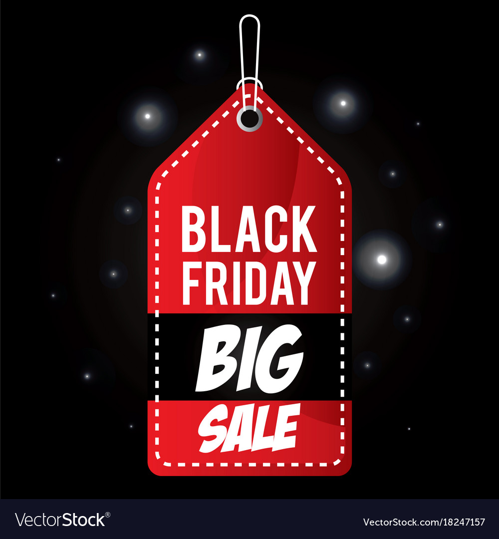 Black Friday Promotion Label Royalty Free Vector Image