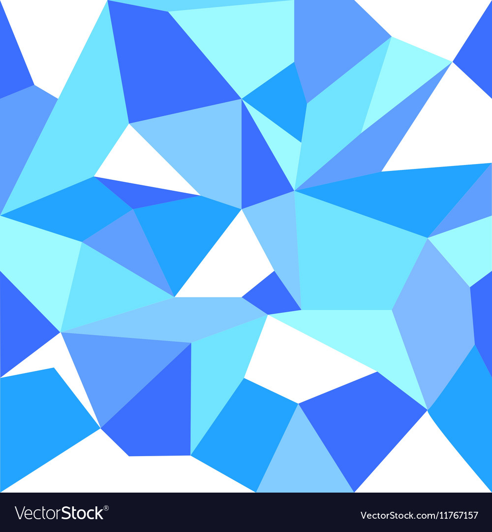 Blue Ice Abstract Seamless Pattern