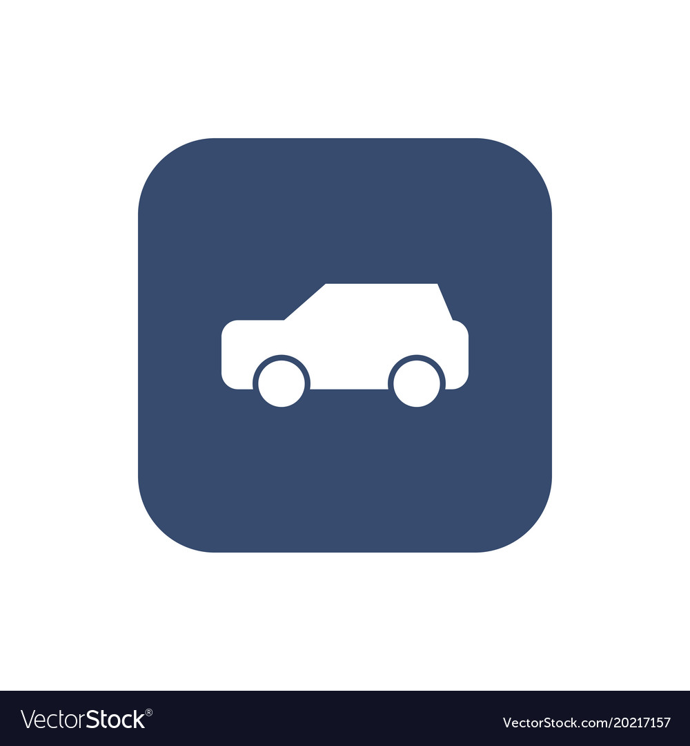 Car icon on background