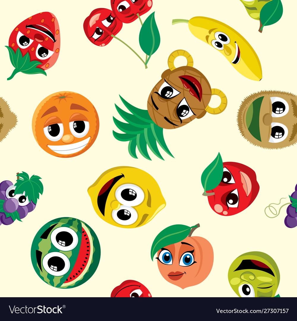 Cartoon fruits pattern