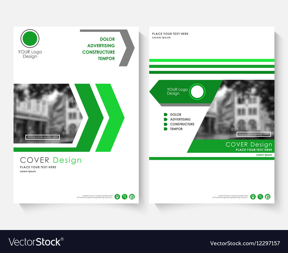Green cover design template for annual report