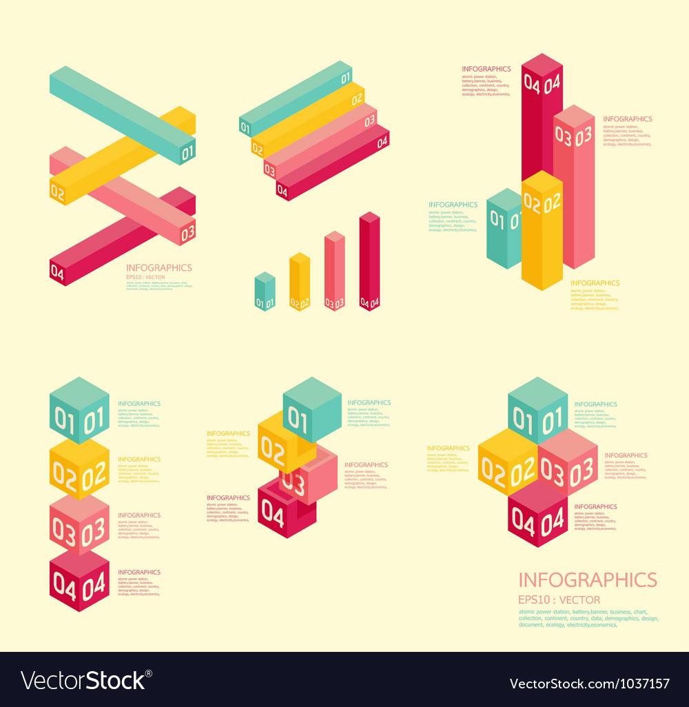 Modern soft color graph Design