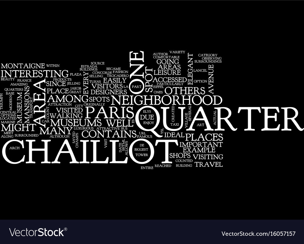 The Elegant Chaillot Quarter Text Background Word