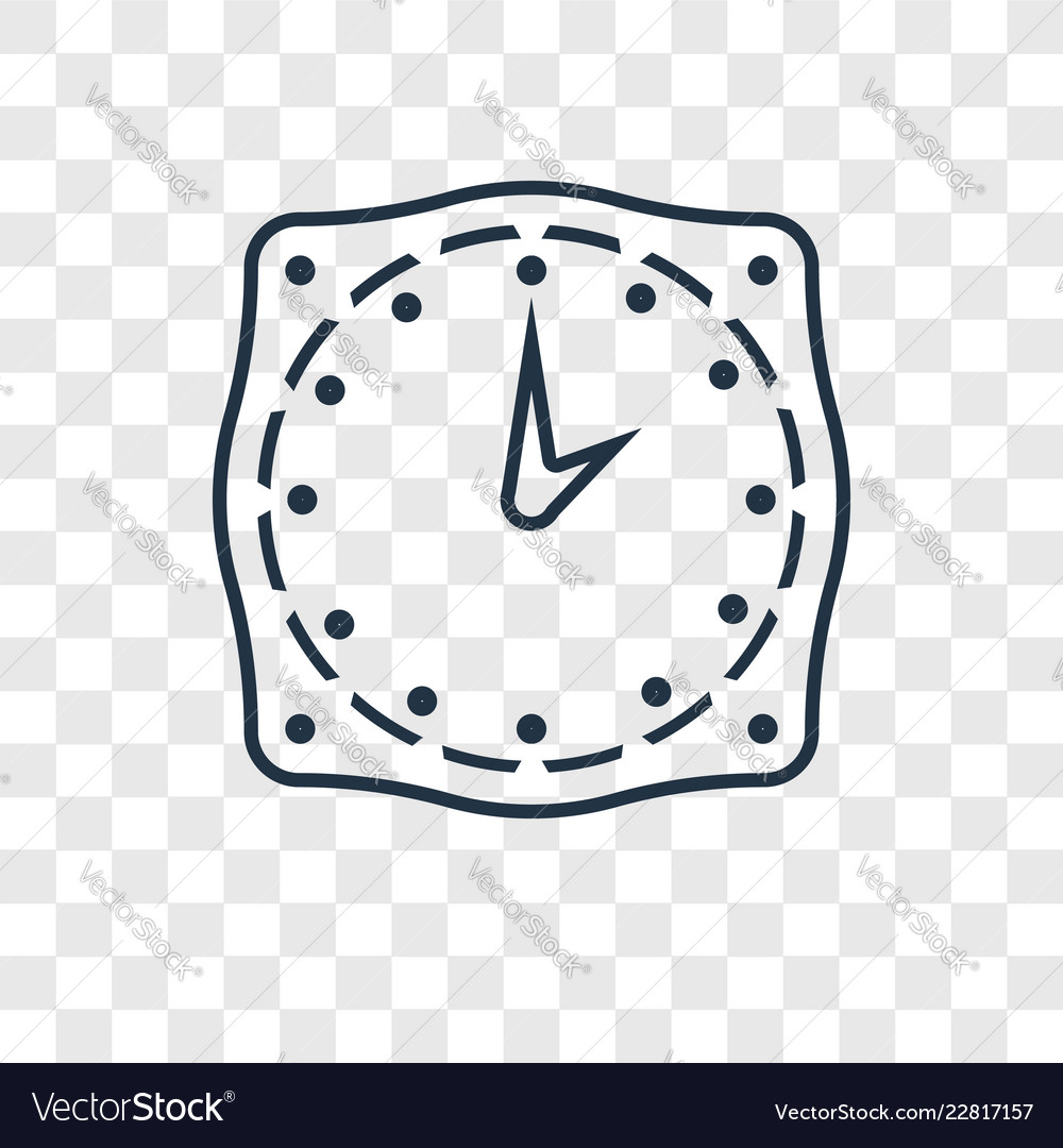 Time concept linear icon isolated on transparent