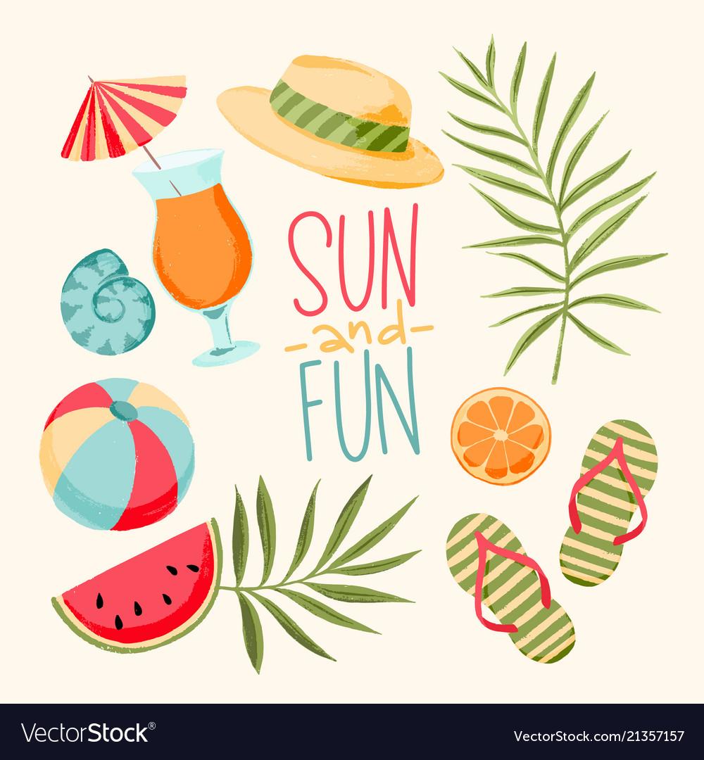 Tropical summer elements