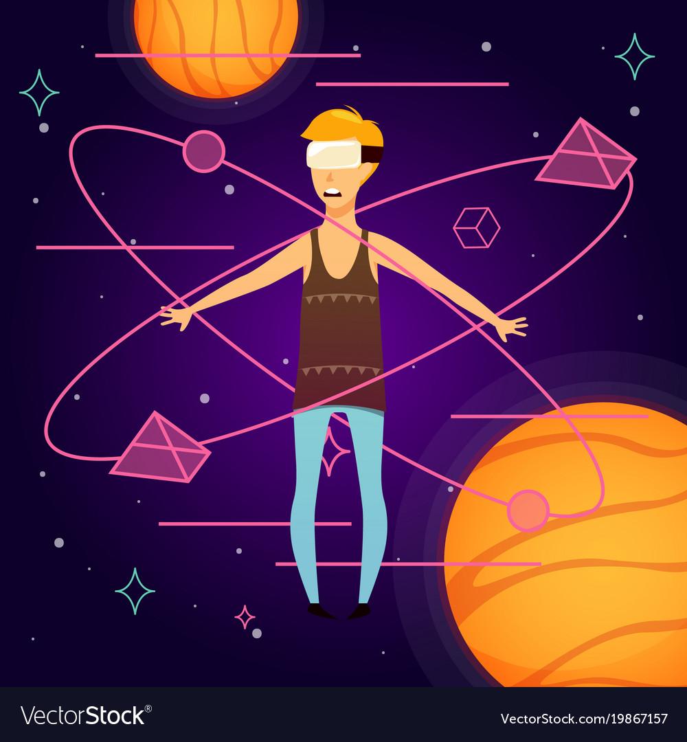 Virtual space orthogonal background