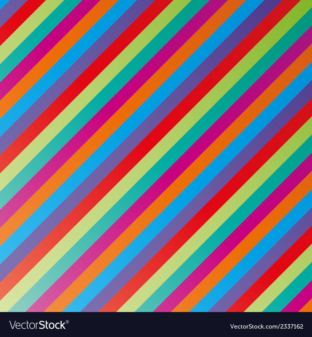 Color lines vector image