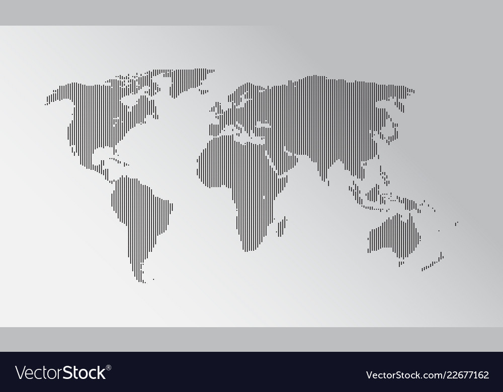 Official Flat Earth Map.Dotted World Map Flat Earth Map Royalty Free Vector Image