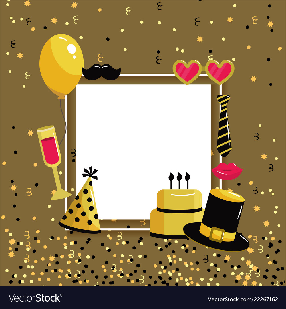 happy birthday letter with decoration style vector image