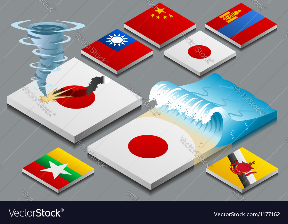 Isometric representation of natural disaster