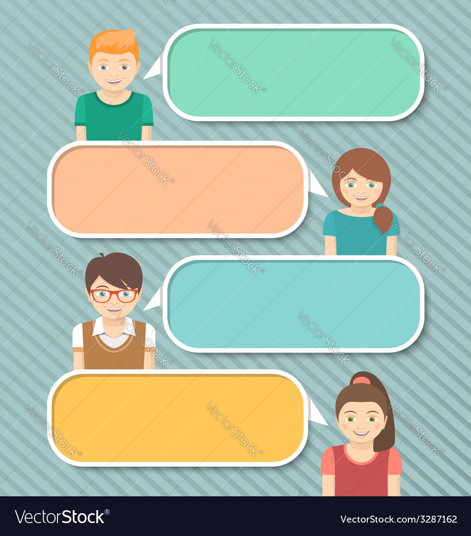 Kids Infographics Elements for Text vector image
