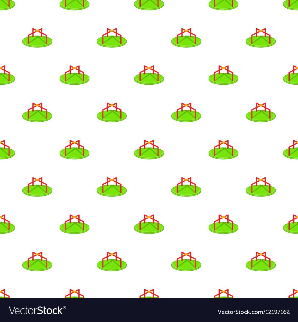 Merry go round pattern cartoon style vector image