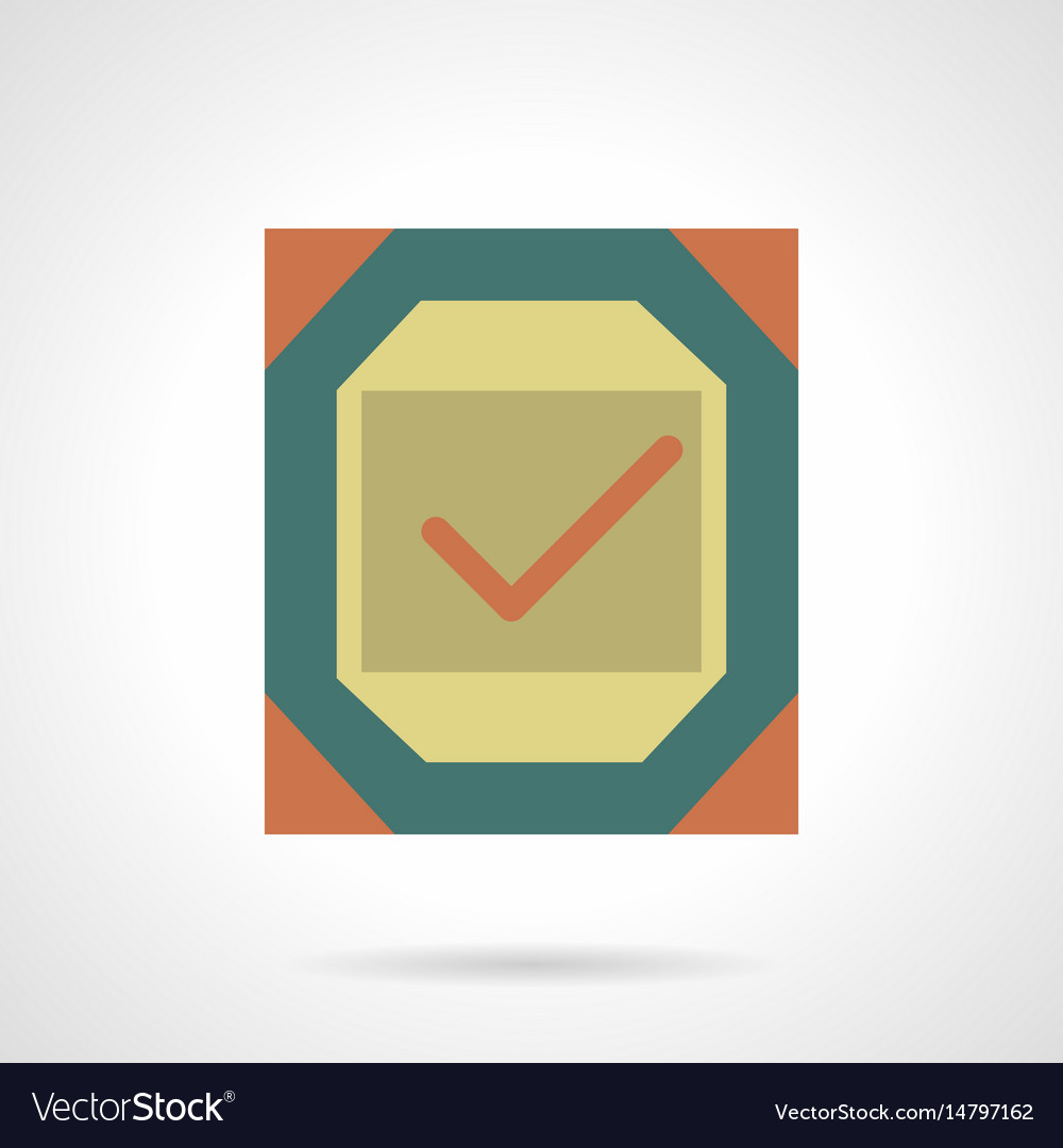 Metal quality sign flat color icon