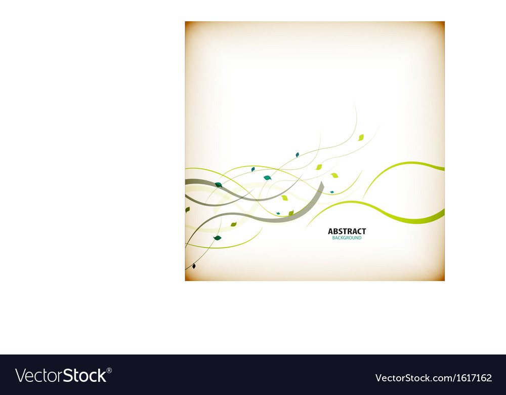 Minimal autumn floral background lines and leaves vector image
