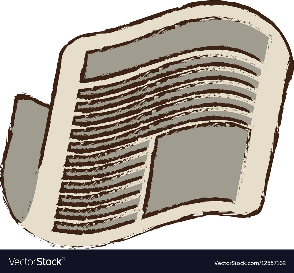 Newspaper letter news daily sketch vector image