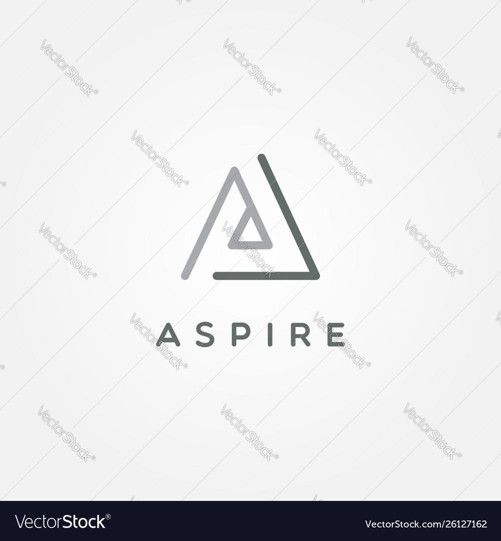 Simple logo type a logo sign symbol iconprint
