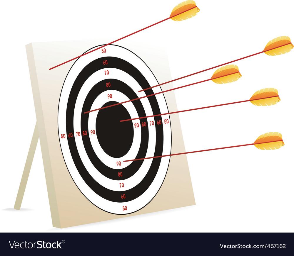 target logo with arrow. Target Arrows Vector