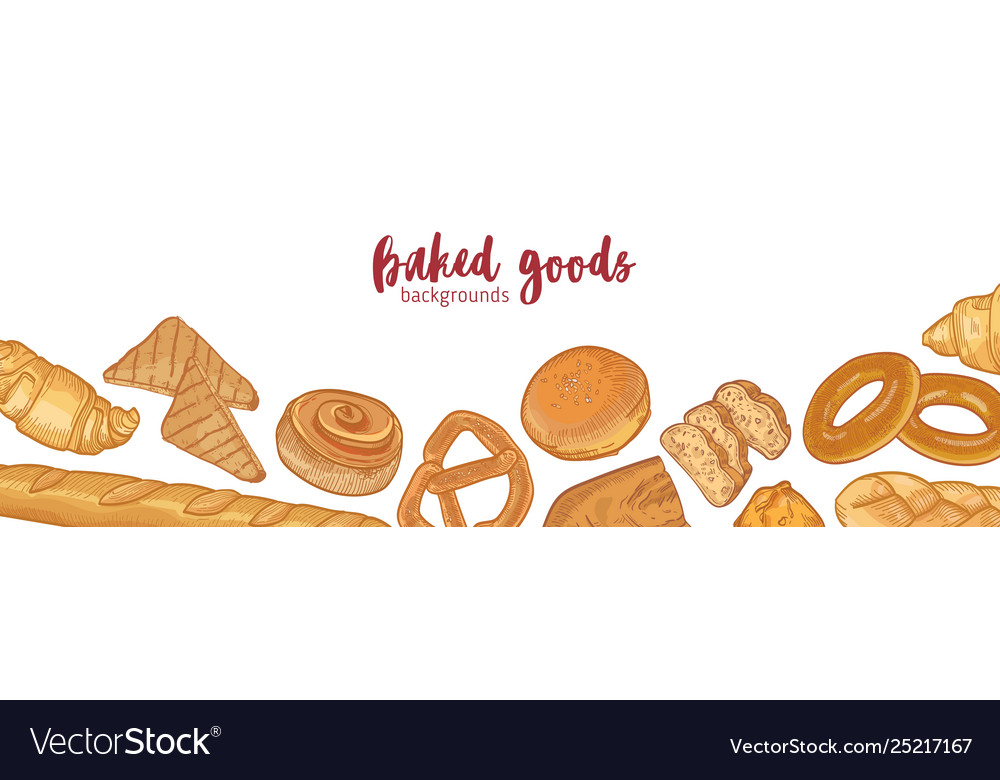 various types breads Vector Image