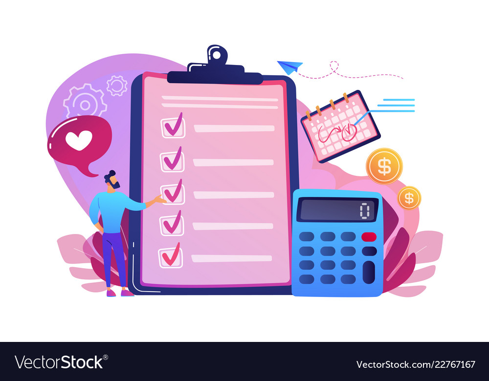 Budget Planning Concept Royalty Free Vector Image