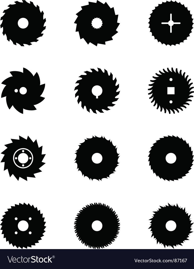 Buzz saws vector image