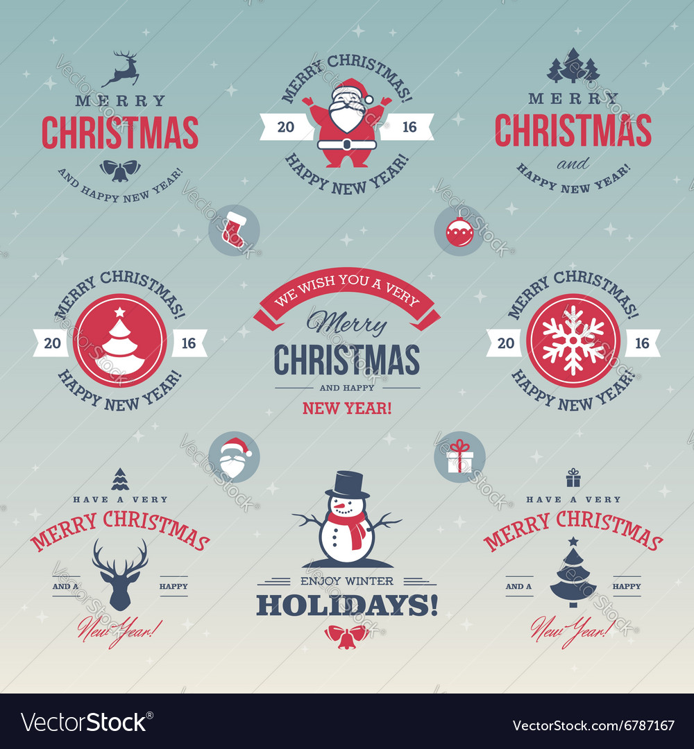 Colored Christmas labels